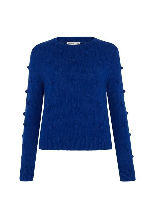 Pull bleu en laine - gigi - People Tree num 4