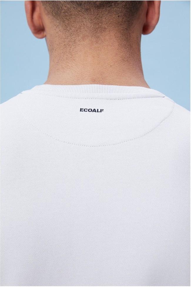 Sweat rayé blanc en coton bio - sherman - Ecoalf num 5
