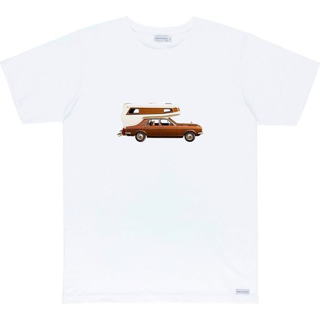 T-shirt en coton bio white on the road - Bask in the Sun