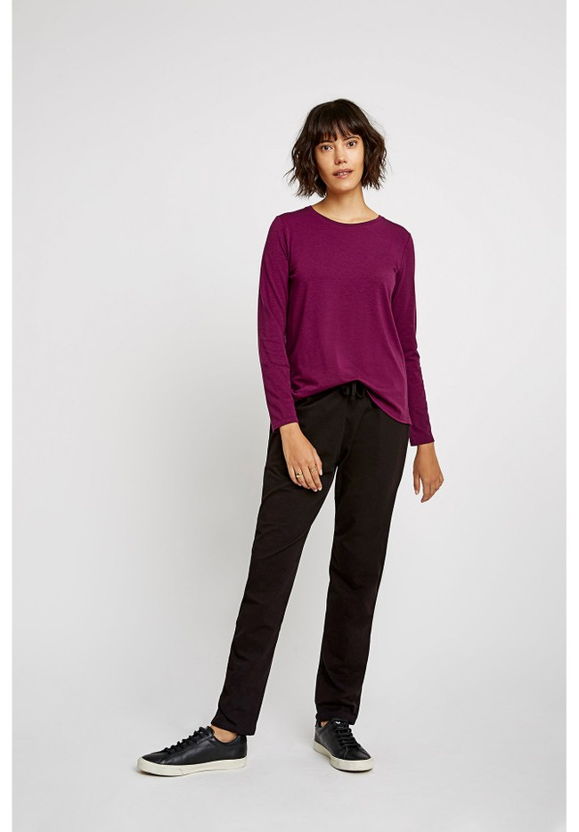 T-shirt manches longues violet - amara top - People Tree num 3