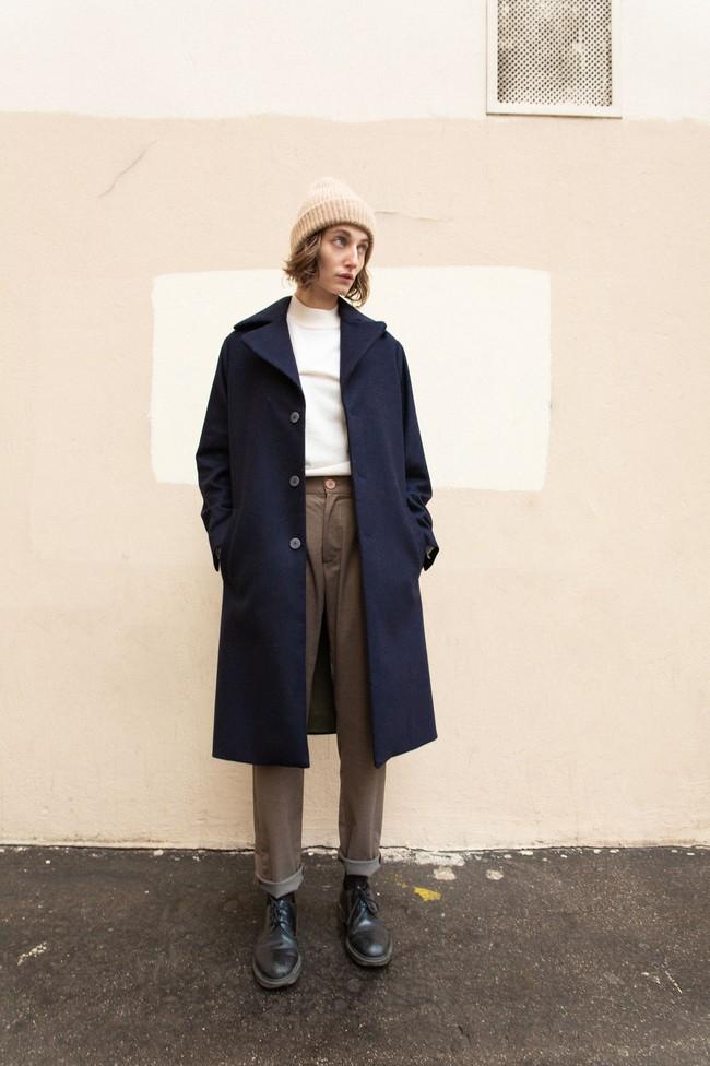 Manteau glasgow laine & cachemire - Noyoco num 2