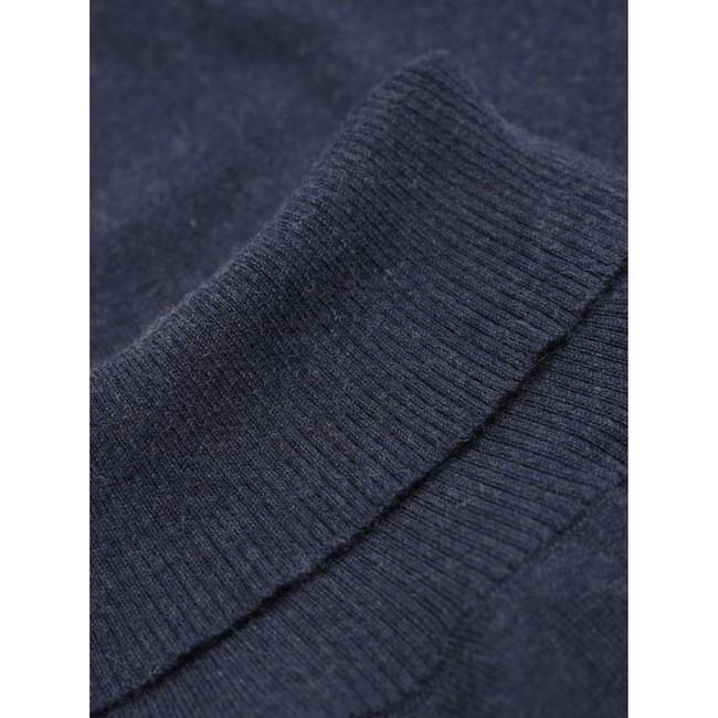 Pull à col roulé bleu en coton bio et cachemire - roll neck - Knowledge Cotton Apparel num 2