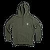 Kaki hoodie • white logo - Omnia in uno - 3