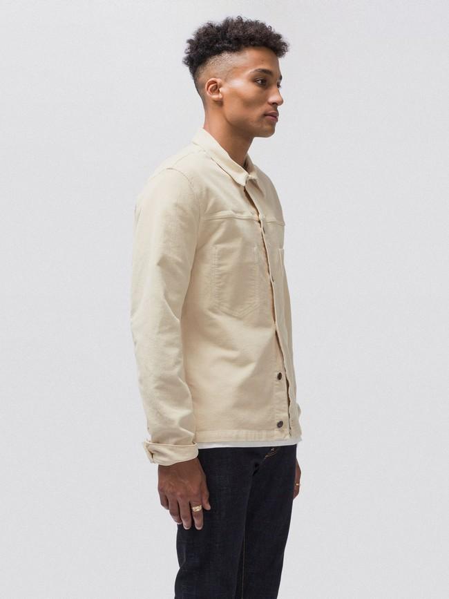 Veste en velours écru en coton bio - ronny - Nudie Jeans num 2