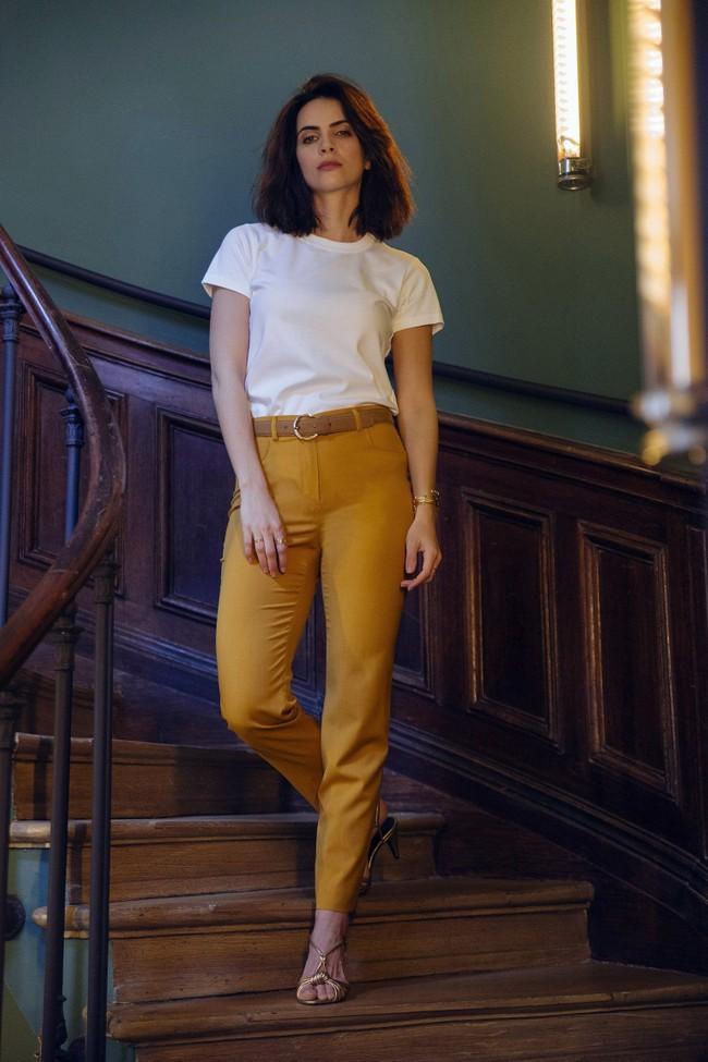 Pantalon tailleur new-york jaune safran - 17h10