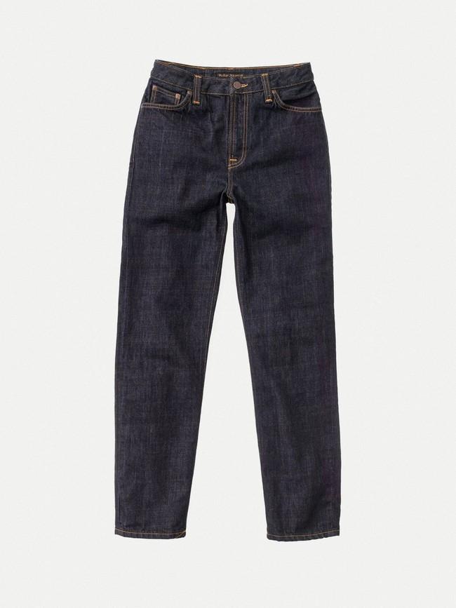 Jean droit taille haute brut en coton bio - breezy britt rinsed original - Nudie Jeans num 6