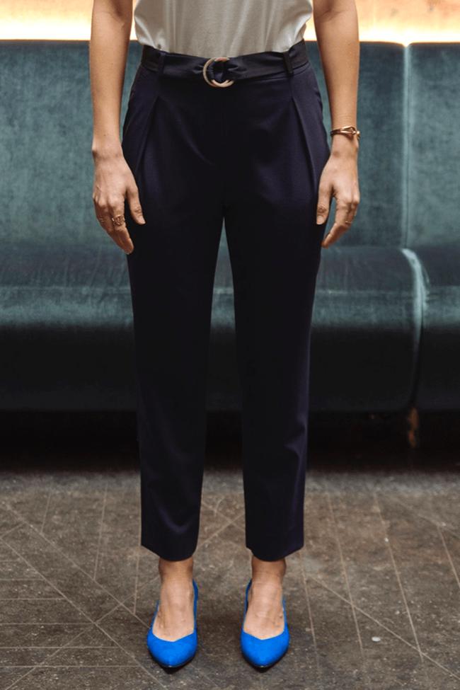 Pantalon tailleur casablanca navy - 17h10