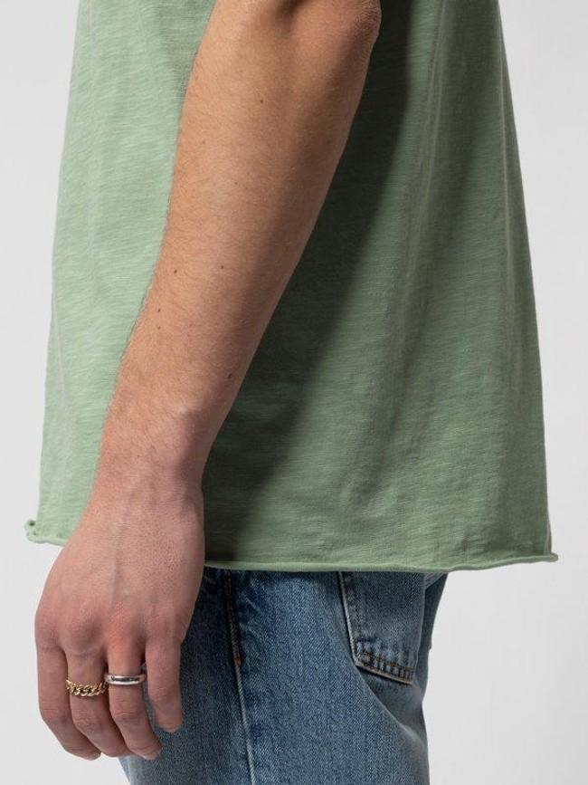 T-shirt vert en coton bio - roger - Nudie Jeans num 4