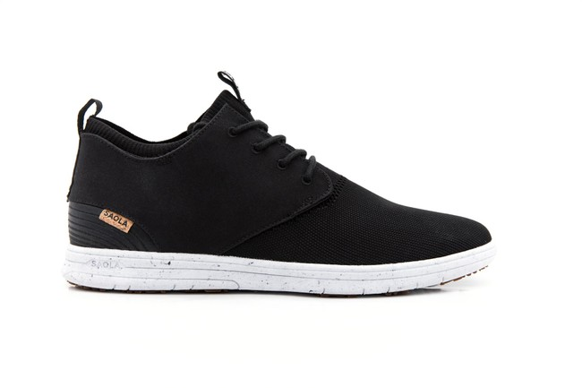Chaussures recyclées semnoz femme noir - Saola num 2