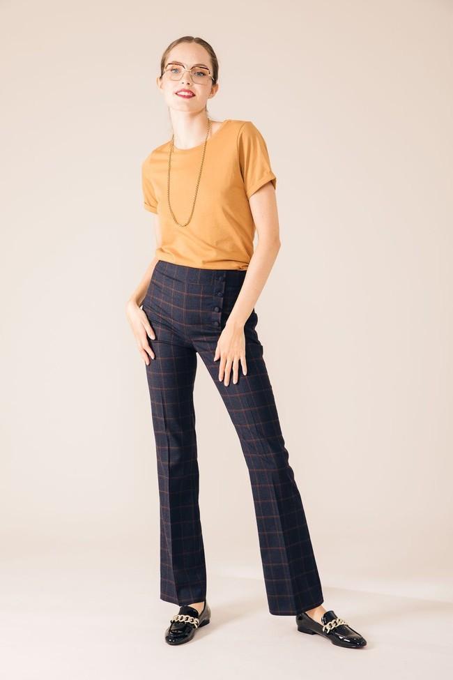 Pantalon tailleur berlin bleu d'écosse - 17h10 num 1