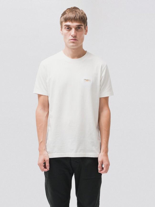 T-shirt blanc en coton bio - daniel - Nudie Jeans num 1