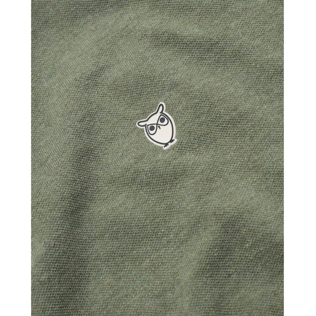 Polo vert en coton bio - rowan - Knowledge Cotton Apparel num 1
