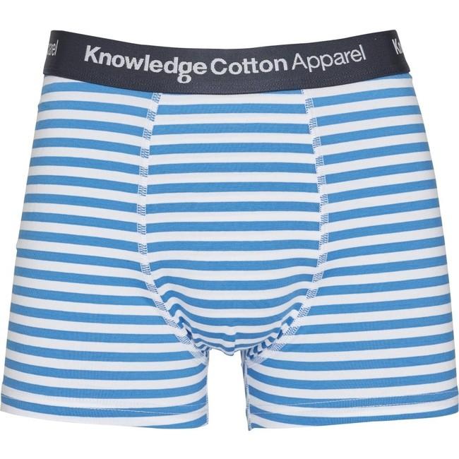 Pack 2 boxers rayé et bleu marine en coton bio- maple - Knowledge Cotton Apparel num 1