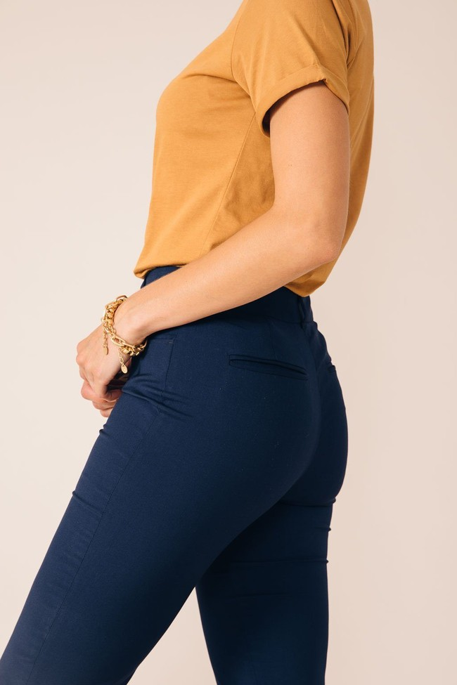 Pantalon tailleur new-york bleu marine - 17h10 num 1