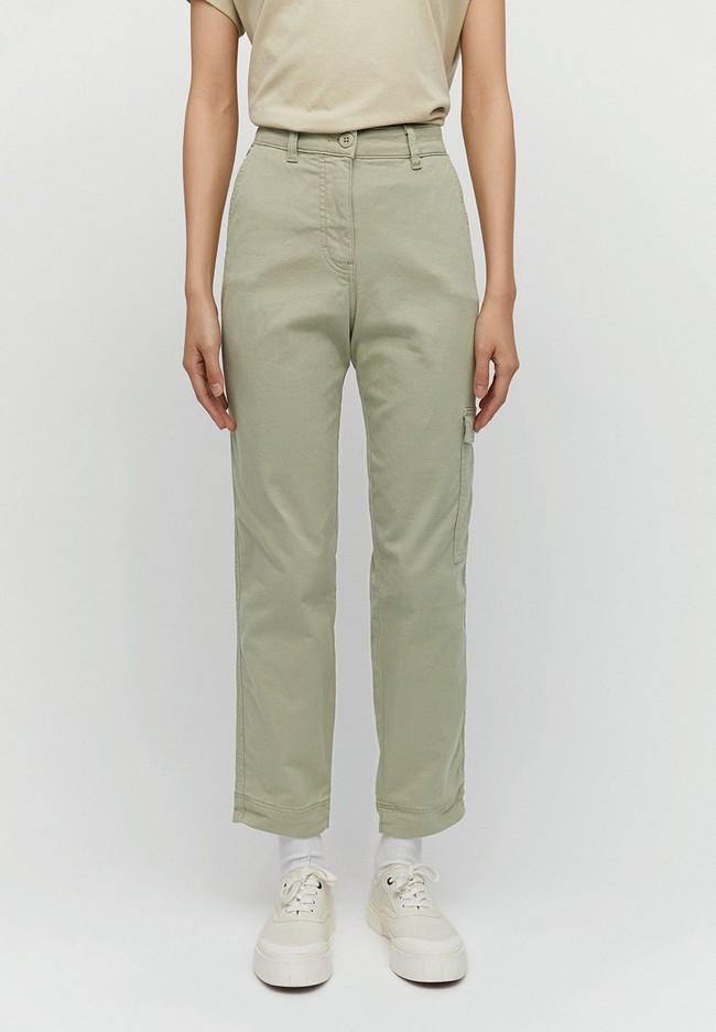 Pantalon cargo vert pâle en coton bio - virginiaa - Armedangels num 1