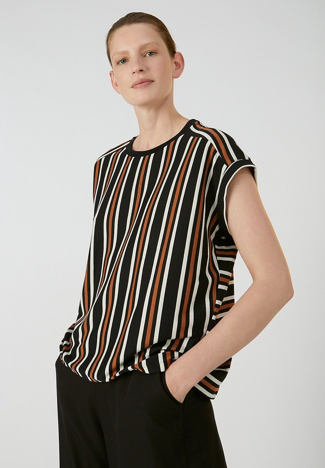 T-shirt rayé en tencel et coton bio - marthaa - Armedangels