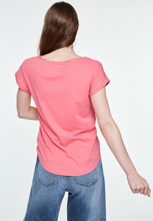 T-shirt uni rose en coton bio - laale - Armedangels num 1