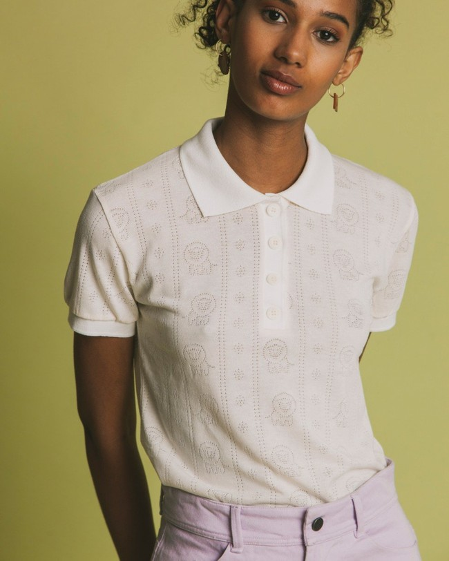 Polo écru en tencel et coton bio - luangwa - Thinking Mu