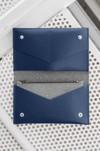 Portefeuille marine en cuir recyclé - flat purse - Walk with me - 5