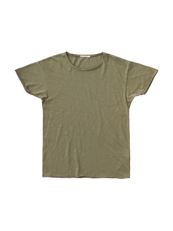T-shirt kaki en coton bio - roger - Nudie Jeans num 3