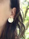 Boucles d'oreilles pilea en argent recyclé - Elle & Sens - 5