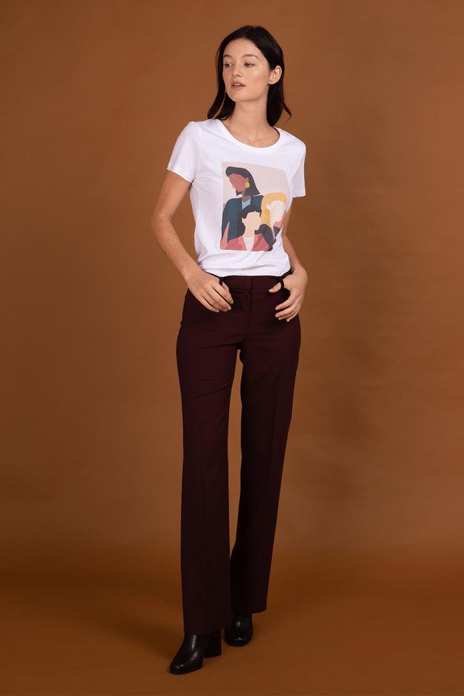 Pantalon tailleur berlin prune - 17h10