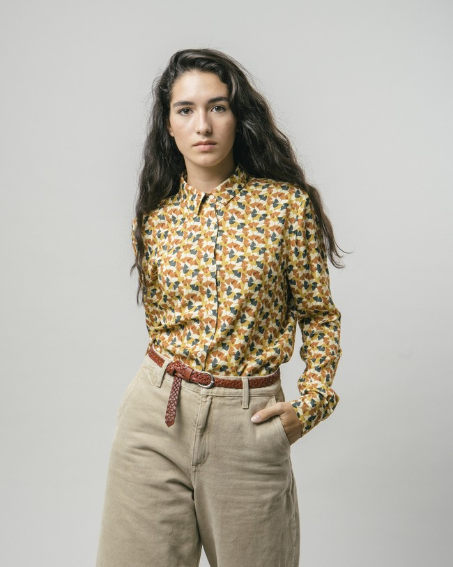 Ginkgo printed blouse - Brava Fabrics