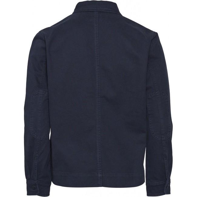 Veste marine en coton bio - Knowledge Cotton Apparel num 1