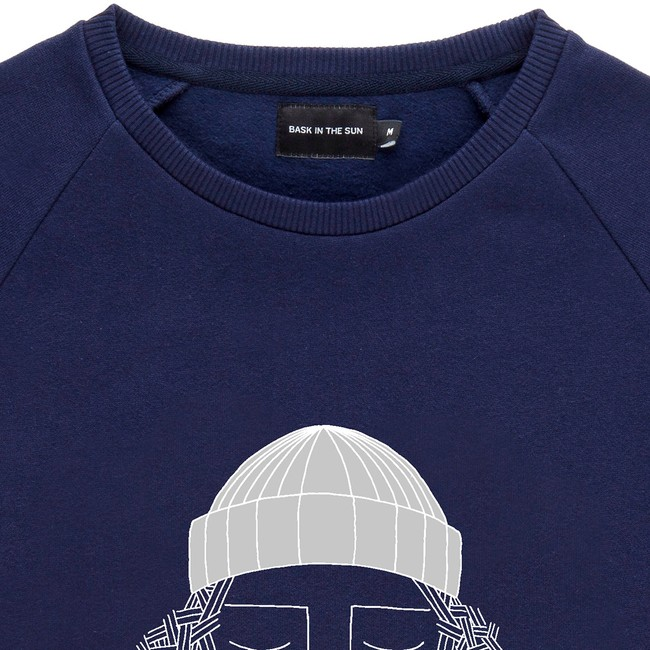 Sweat en coton bio navy smoking pipe - Bask in the Sun num 1