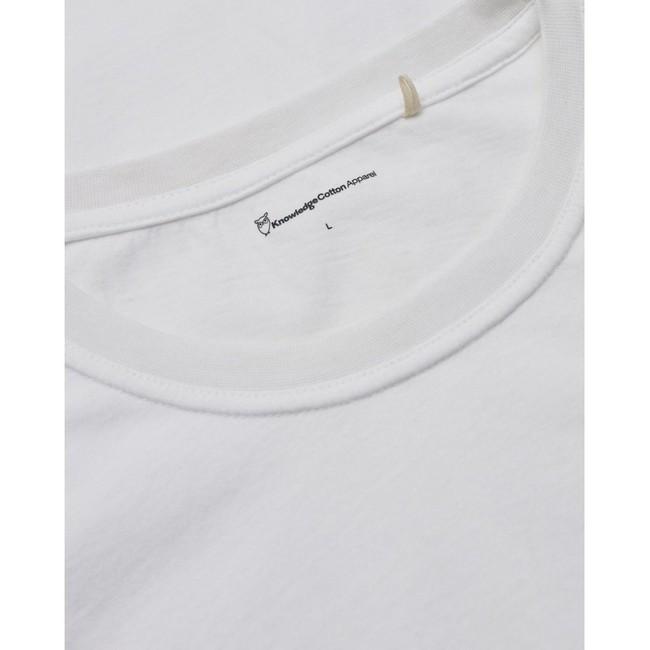 T-shirt imprimé blanc en coton bio - alder - Knowledge Cotton Apparel num 2