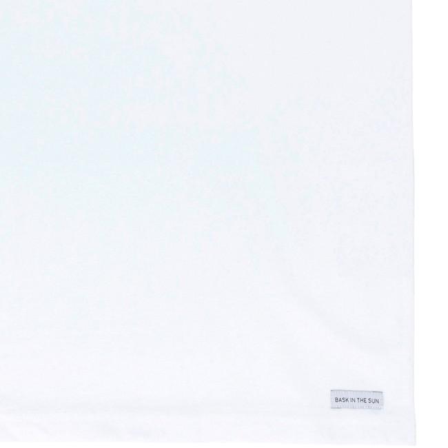 T-shirt en coton bio white coffee - Bask in the Sun num 3