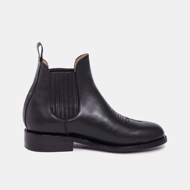 Carlos charro boot black - Cano