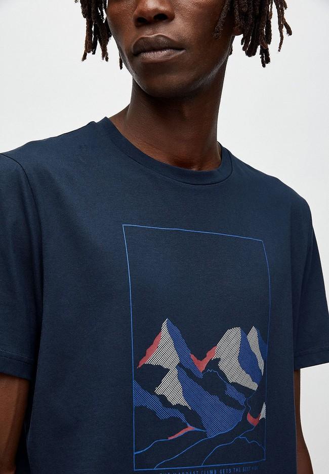 T-shirt marine en coton bio - jaames nature - Armedangels num 1