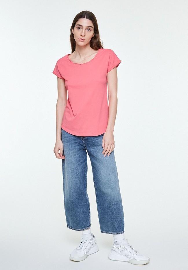 T-shirt uni rose en coton bio - laale - Armedangels num 3
