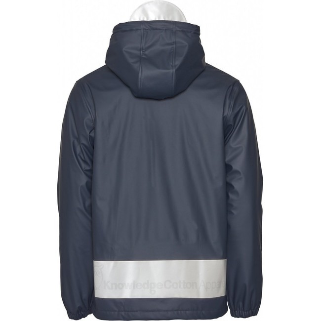 Anorak marine en polyester recyclé - Knowledge Cotton Apparel num 1