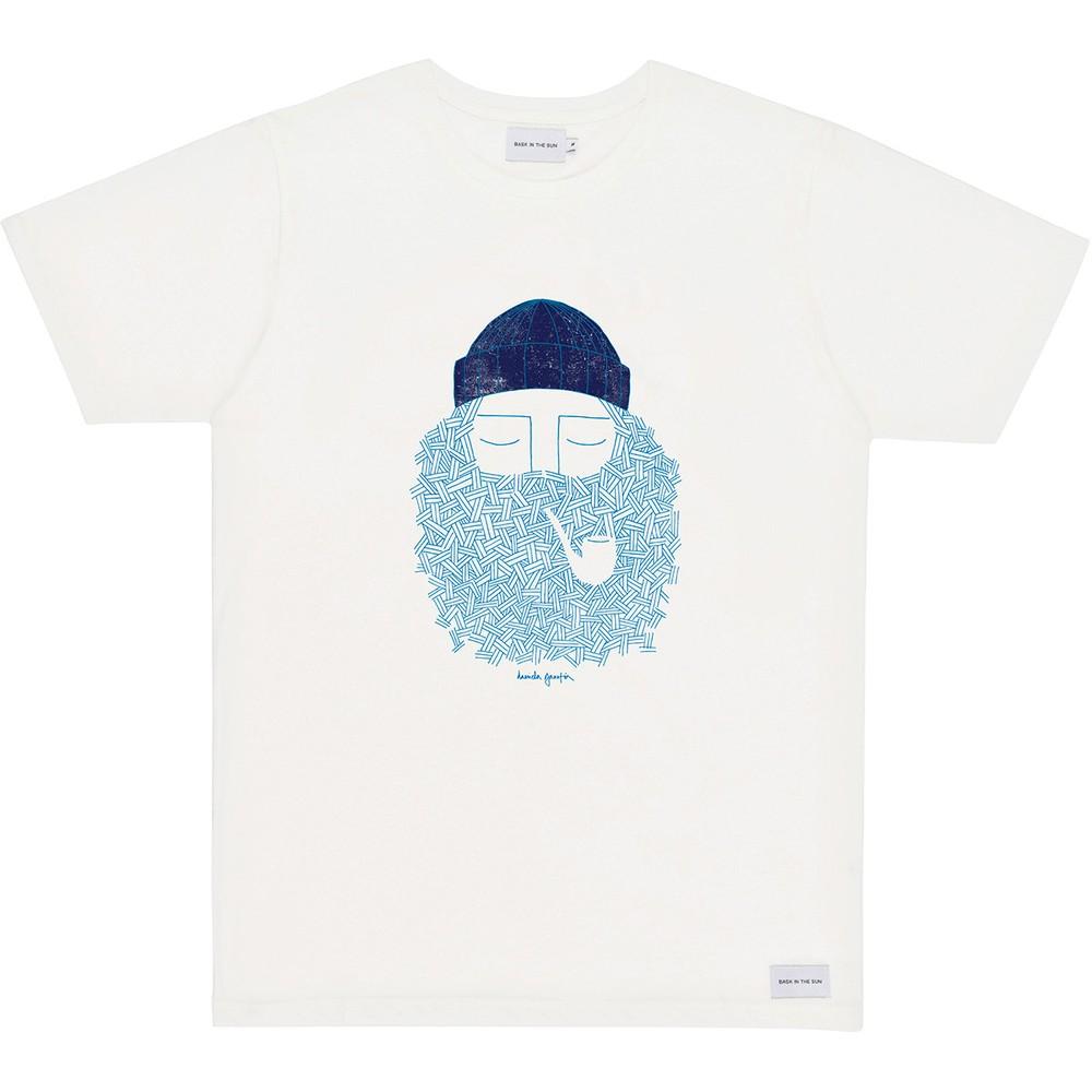 T-shirt en coton bio natural smoking pipe - Bask in the Sun