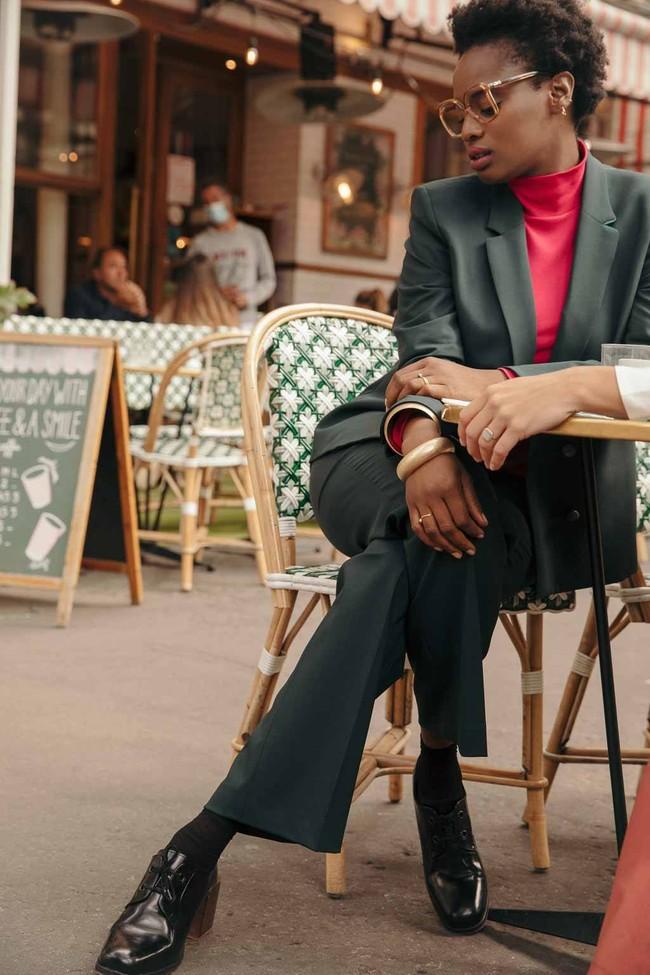 Pantalon tailleur berlin vert bouteille - 17h10