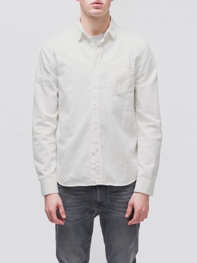 Chemise blanche en coton bio - henry - Nudie Jeans num 1