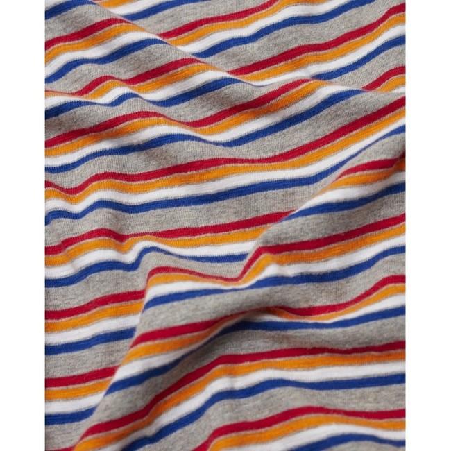 T-shirt rayé multicolore en coton bio - alder - Knowledge Cotton Apparel num 3