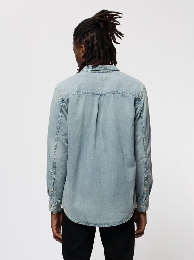 Chemise jean en coton bio - albert - Nudie Jeans num 3