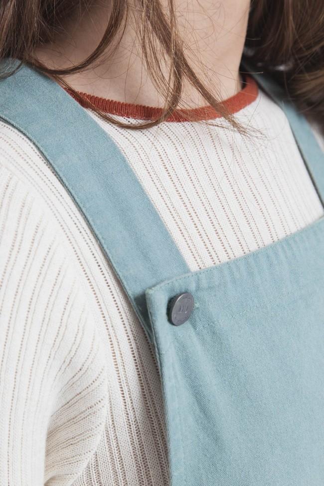 Robe unie verte en coton bio - amelie - Thinking Mu num 3