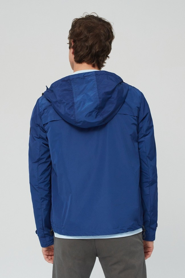 Veste déperlante bleue en polyester recyclé et sorona - dalven nautic - Ecoalf num 3
