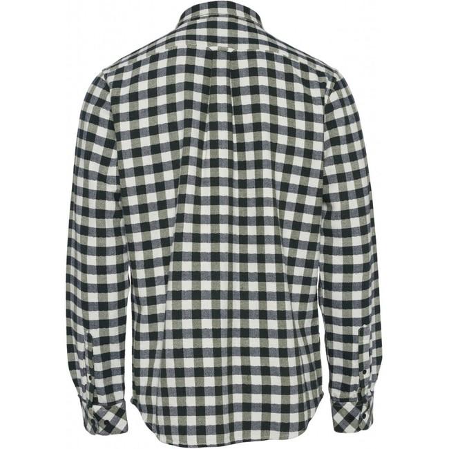 Chemise à carreaux vert forêt flanelle en coton bio - Knowledge Cotton Apparel num 1