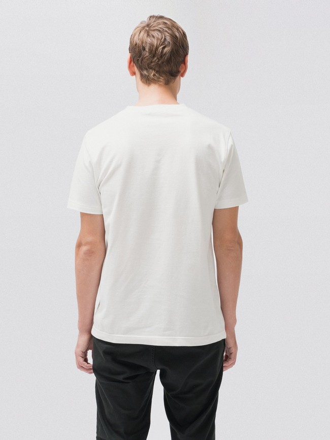 T-shirt blanc en coton bio - daniel - Nudie Jeans num 2
