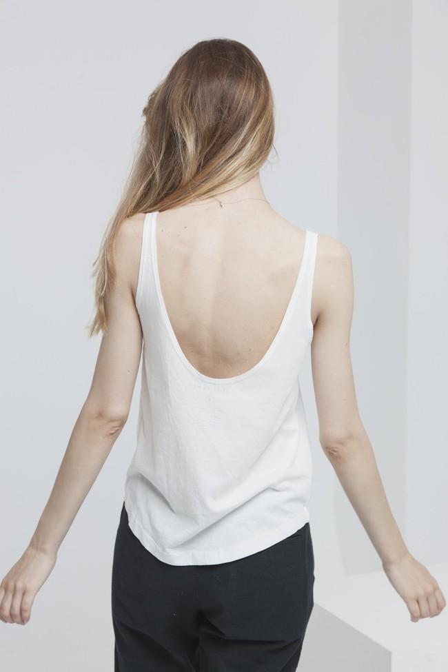 Top imprimé blanc en coton bio - la concha - Thinking Mu num 2