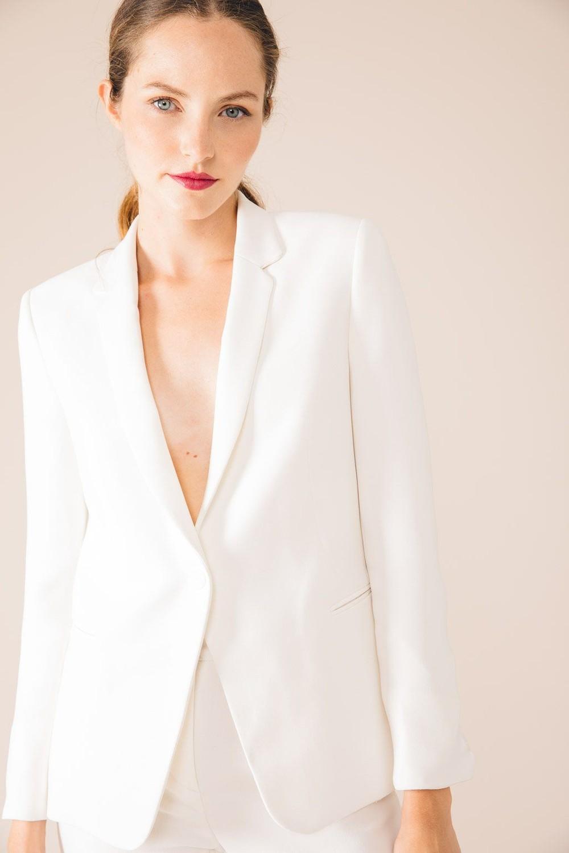 Veste tailleur paris blanche - 17h10