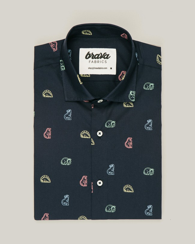 Dinosaurus cookies printed shirt - Brava Fabrics num 1