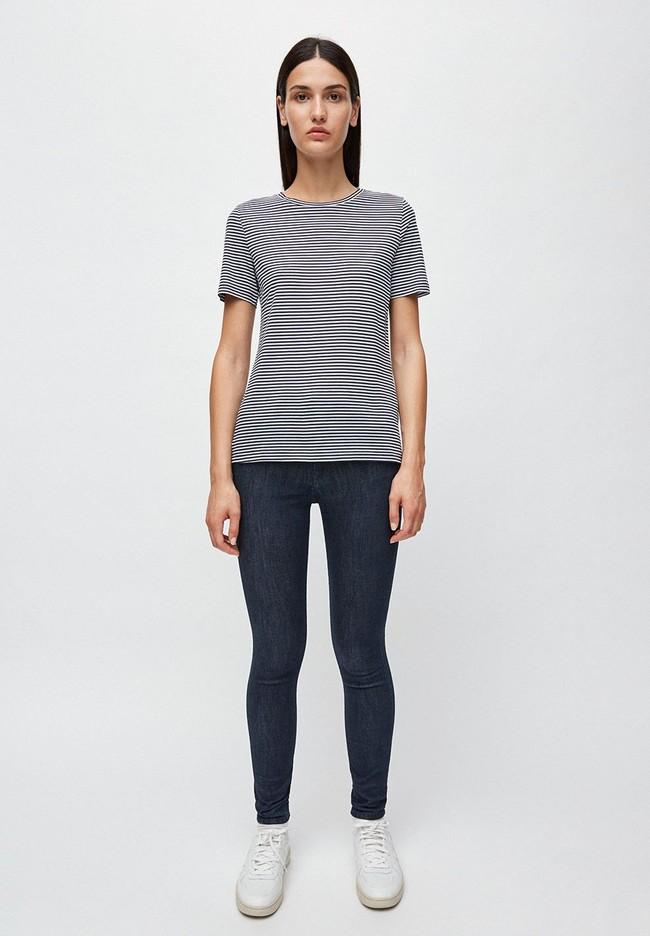T-shirt rayures bleu marine en coton bio - lidaa - Armedangels num 2