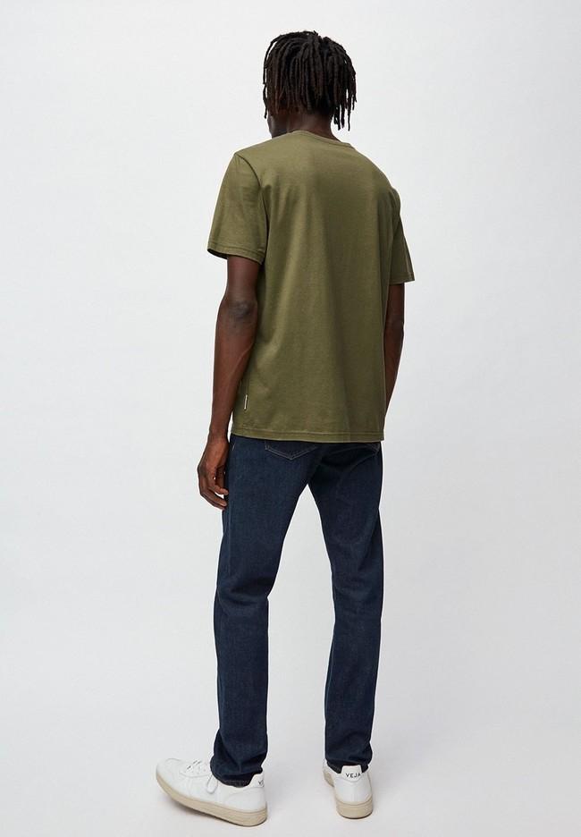 T-shirt kaki en coton bio - jaames - Armedangels num 2