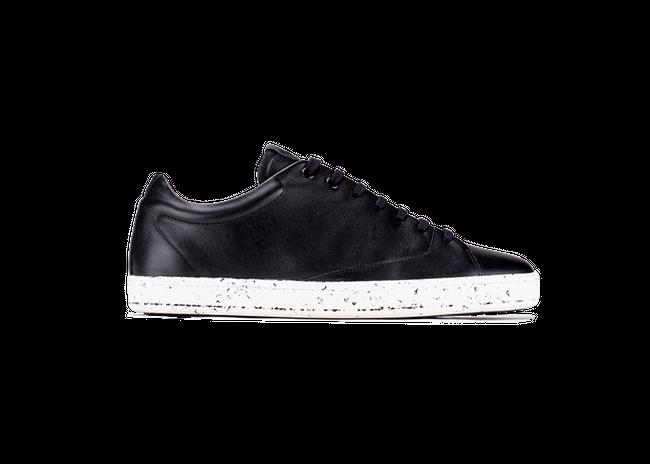 Chaussure en gravière cuir noir / semelle mouchetée - Oth num 3